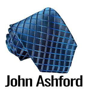 John Ashford Men's Blue Argyle Polyester Tie